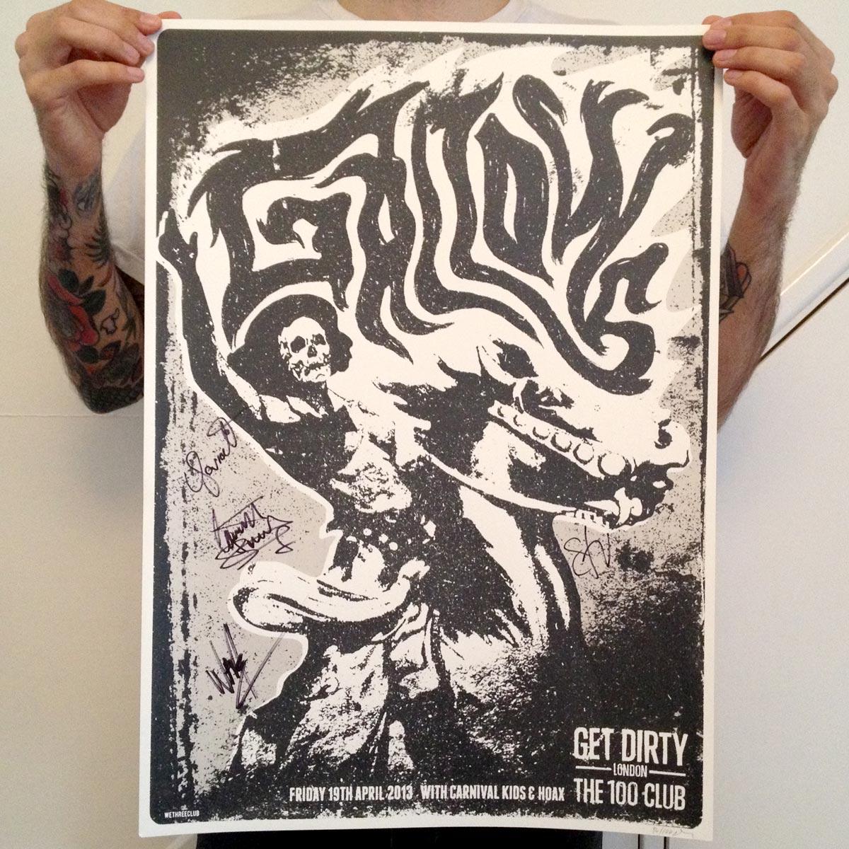 100 Club, London - April 2013 - Gallows Poster - Venn Records