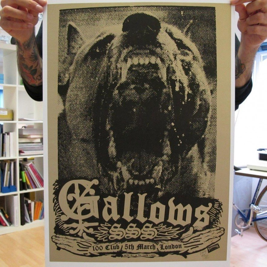 100 Club - March, 2008 - Gallows Poster - Venn Records