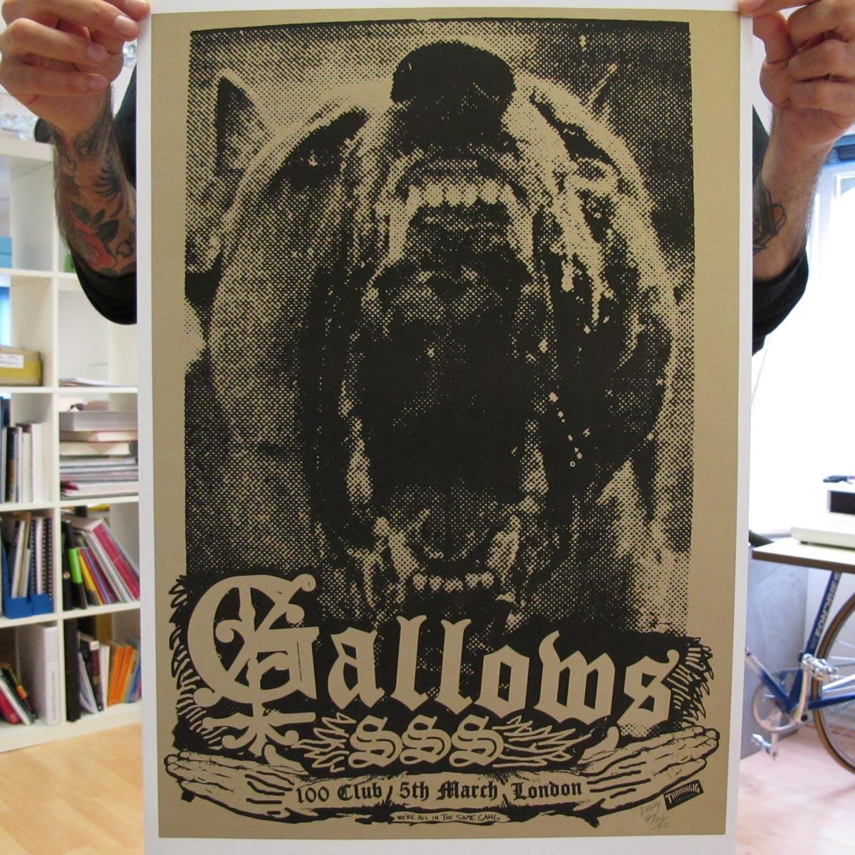 100 Club - March, 2008 - Gallows Poster - Venn Records