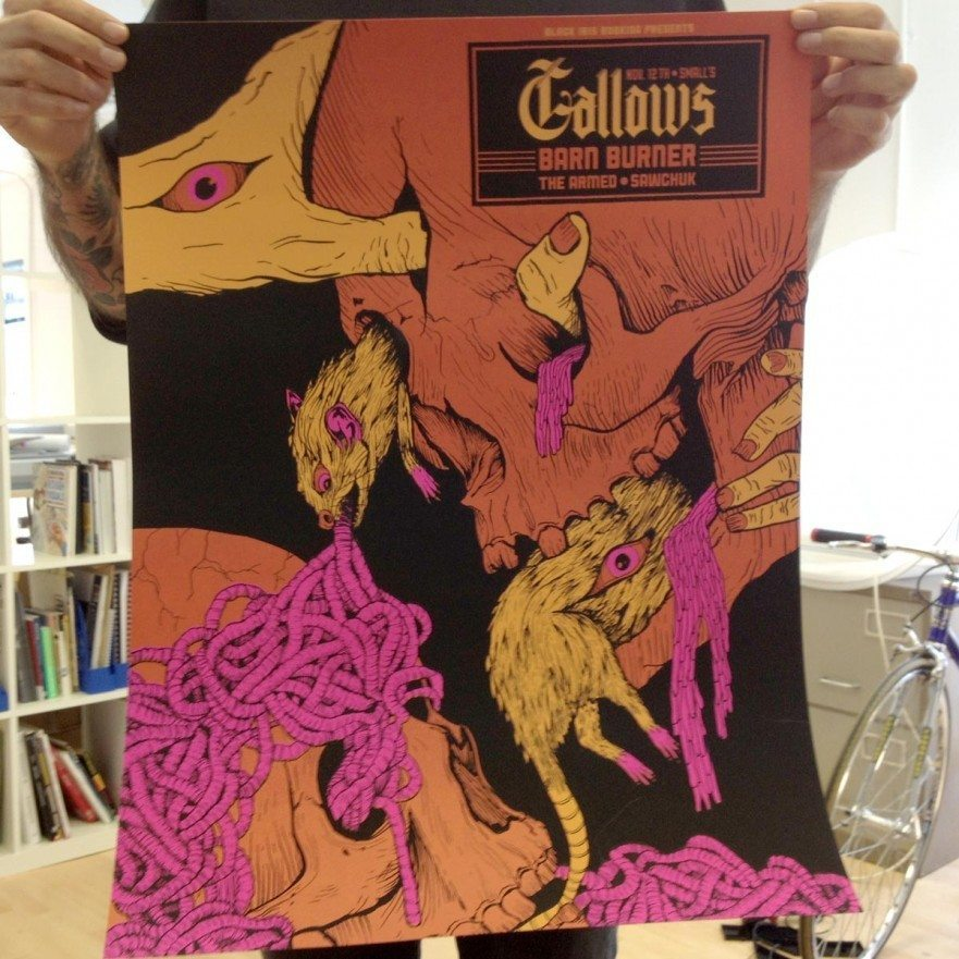 Detroit Nov 2012 - Gallows Poster - Venn Records