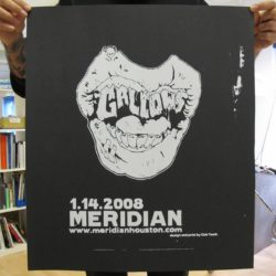 Houston Jan 2008 - Gallows Poster - Venn Records