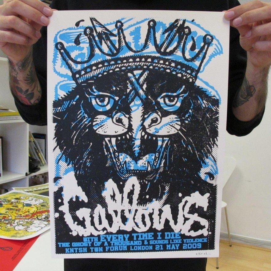 London, May 2009 - Gallows Poster - Venn Records