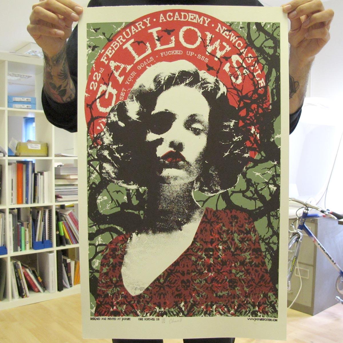 Newcastle, Feb 2008 - Gallows Poster - Venn Records