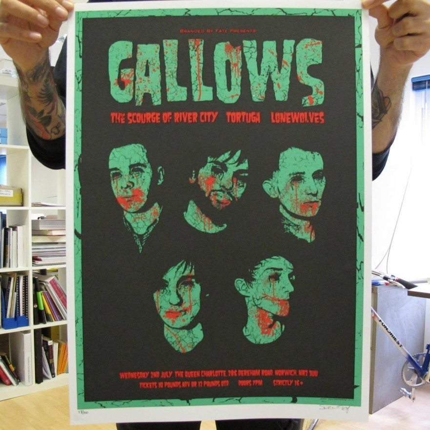 Norwich, July 2008 - Gallows Poster - Venn Records