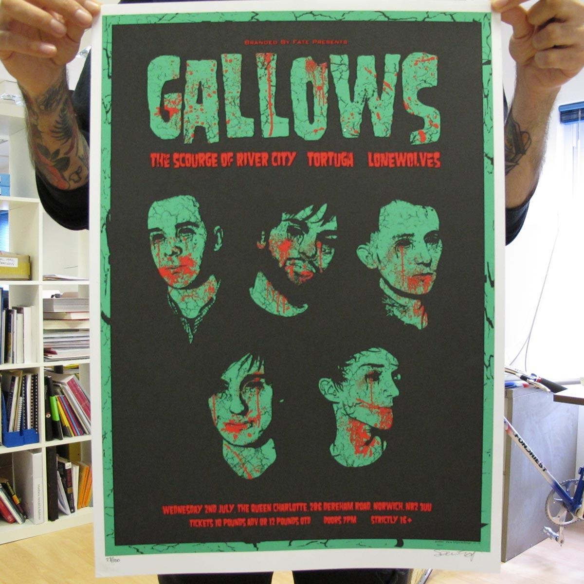 Norwich, July 2008 - Gallows Poster - Venn Records