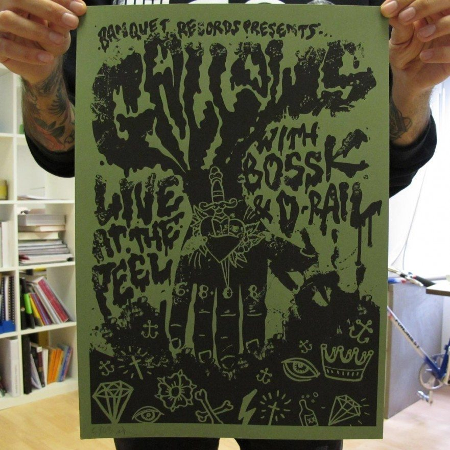 Kingston Peel - August 2008 - Gallows Poster - Venn Records