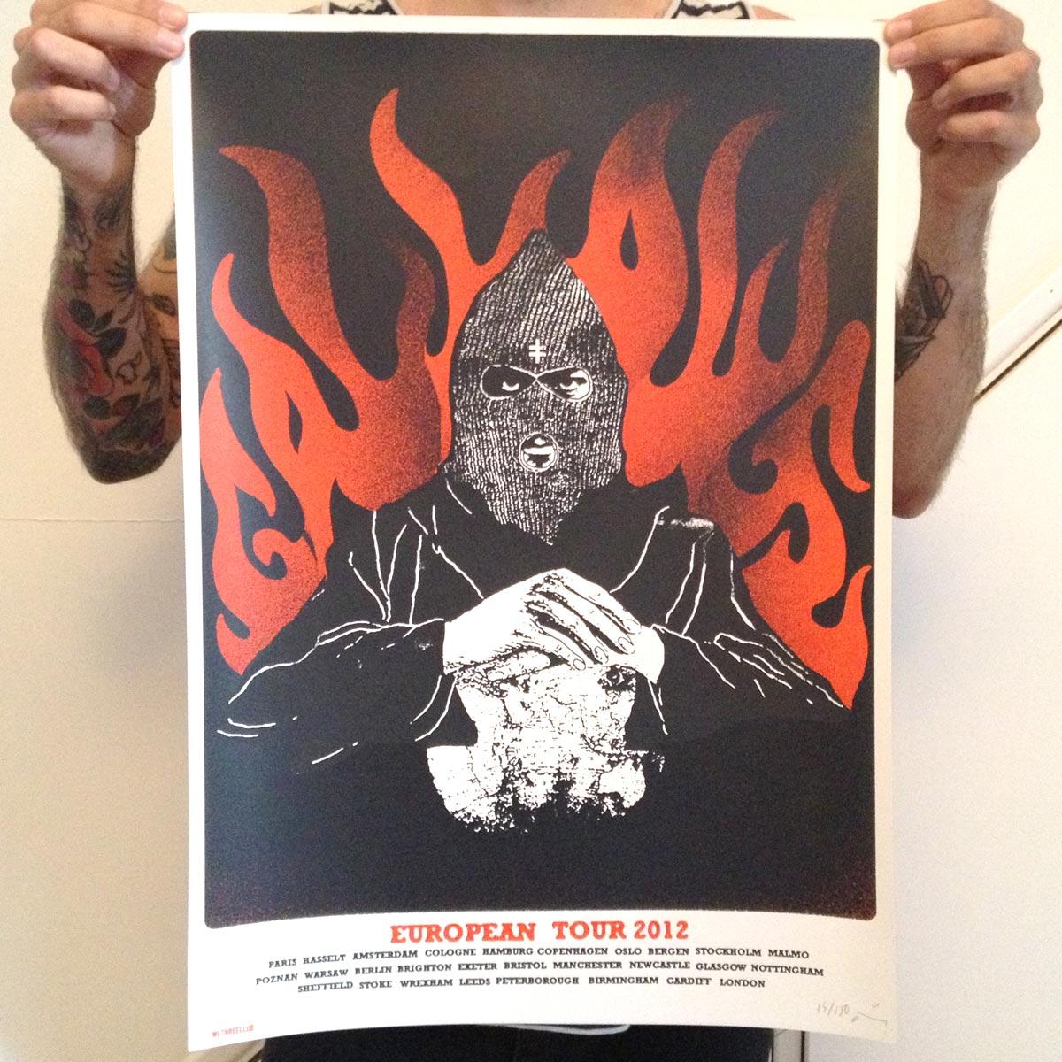 European Tour 2012 - Gallows - Screen Print Poster - Venn Records