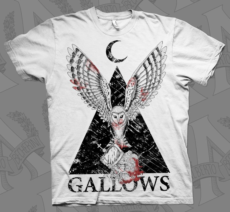 Gallows Owl T-Shirt Venn Records