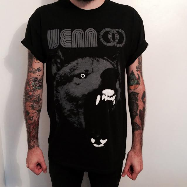 Venn Records Glow In The Dark Wolf T-Shirt