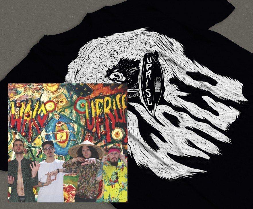 Waco Uprise Venn Records Vinyl T-Shirt Bundle
