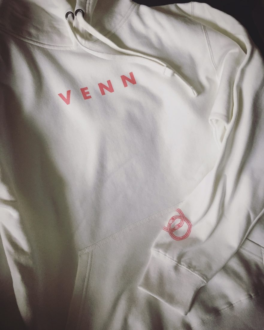 Venn Records - Charcoal Hooded Sweatshirt
