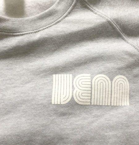 Venn Records - Grey Crew Neck with Snakes Sleve Print